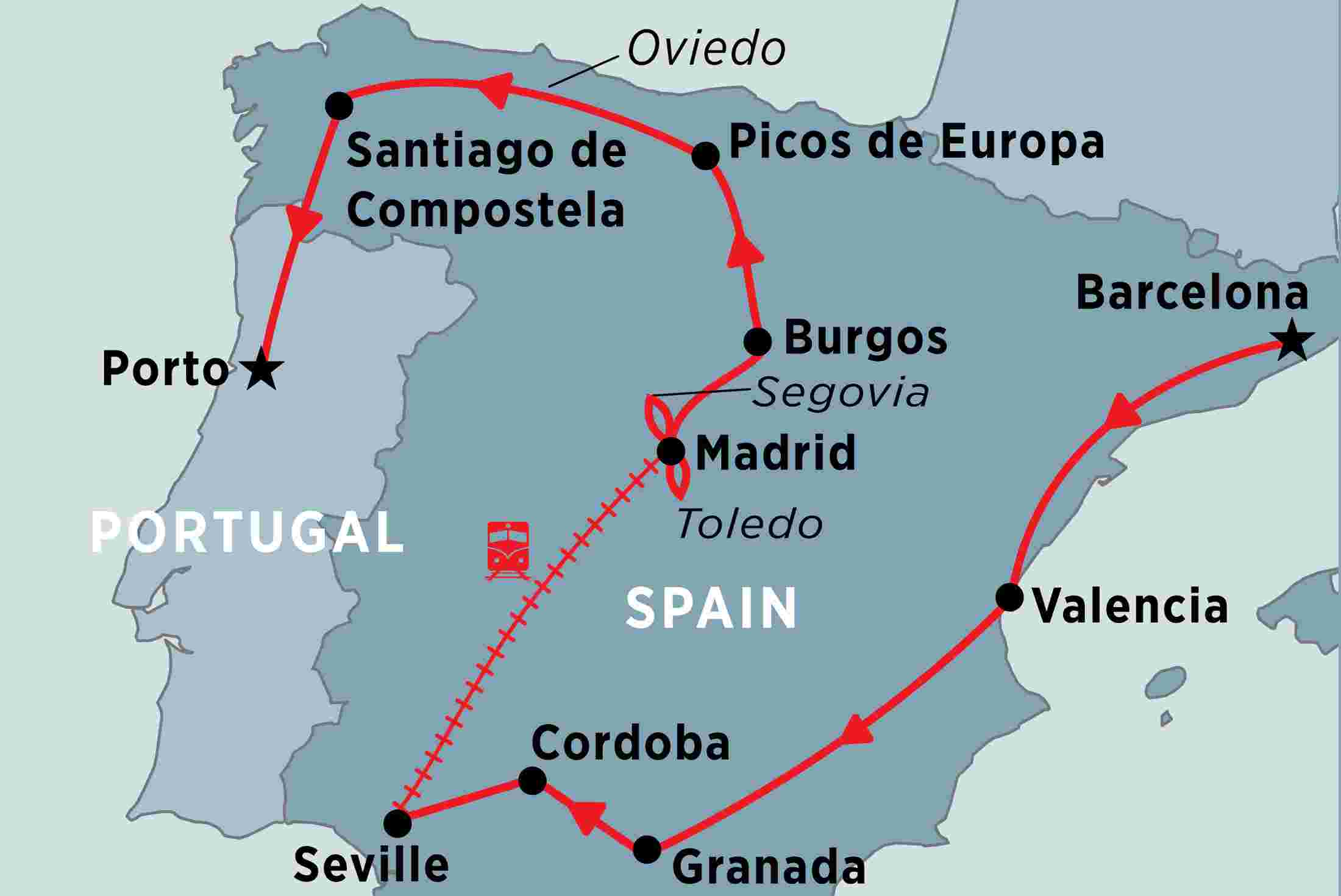 Map Of Northern Portugal And Spain.Spain Uncovered Overview Spain Uncovered