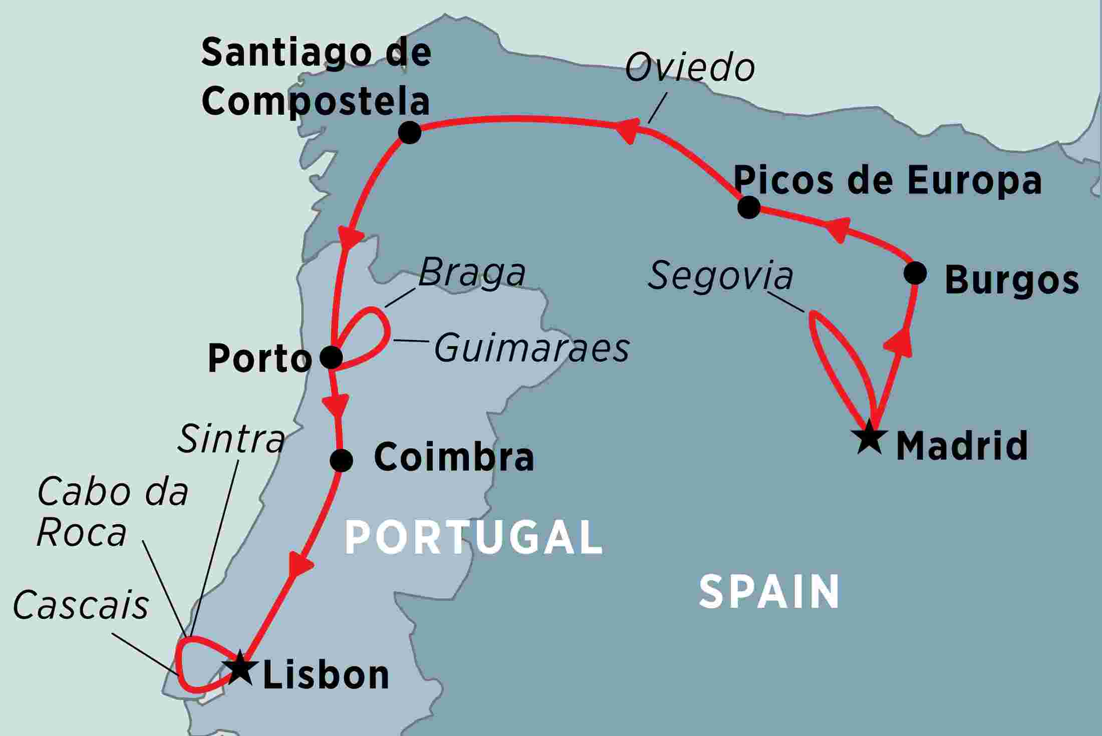 Map Of Northern Portugal And Spain.Northern Spain Portugal Explorer Overview Northern Spain Portugal Explorer