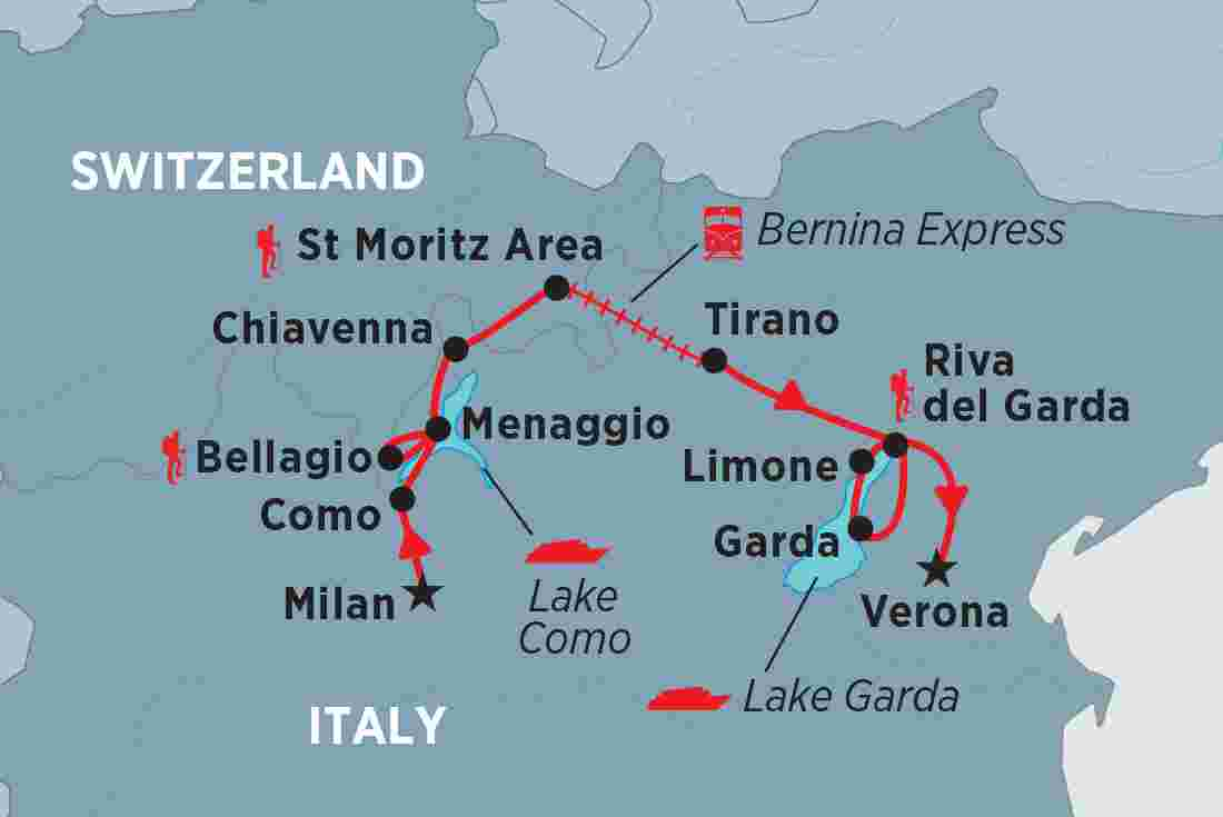 Map Of Italy And Switzerland.Italy Tours Travel Trips Peregrine Adventures Ca