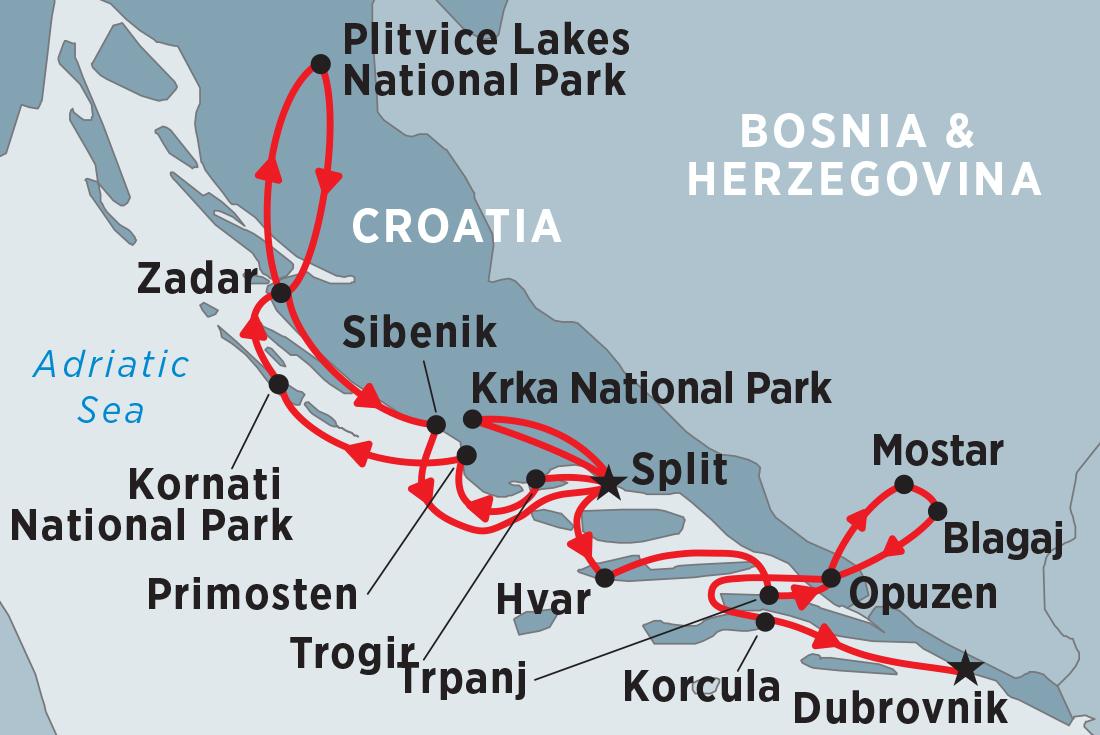 Cruise Croatia Split To Dubrovnik Via Zadar Overview Cruise Croatia Split To Dubrovnik Via Zadar