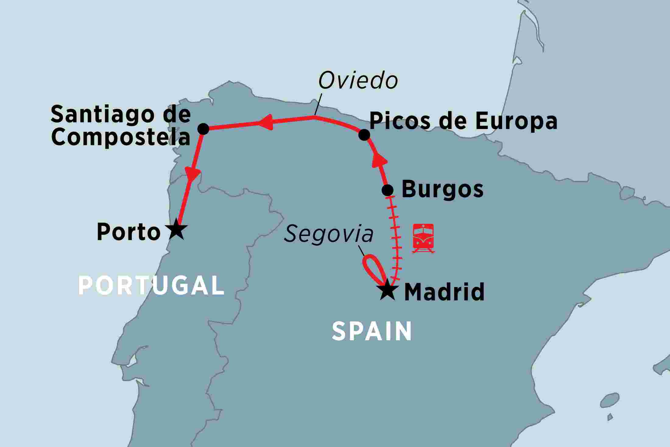 Map Of Northern Portugal And Spain.Highlights Of Northern Spain Overview Highlights Of Northern Spain