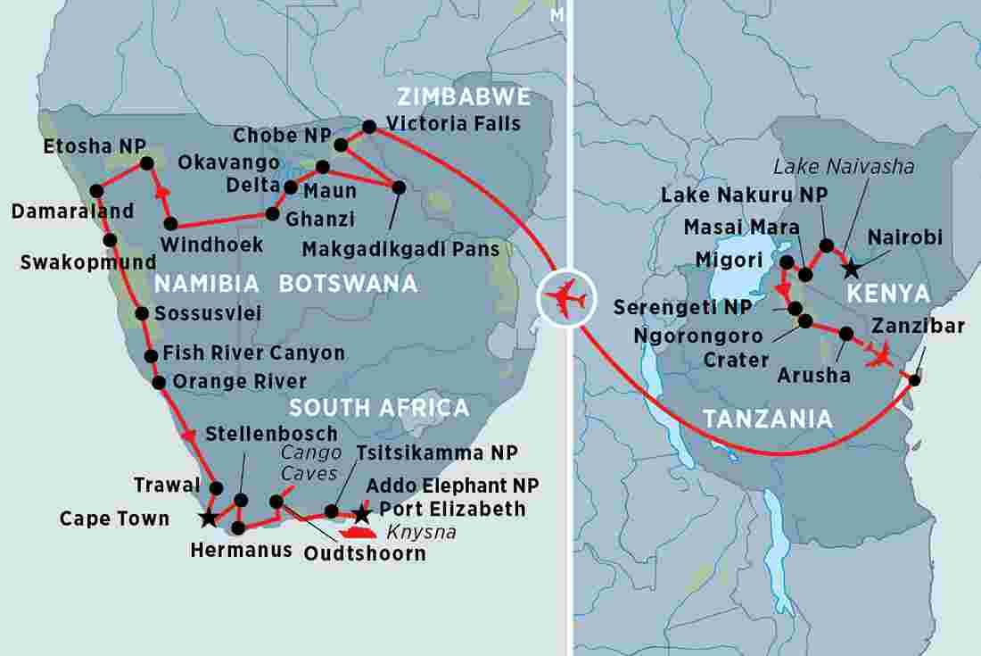 Grand Africa Nairobi To Port Elizabeth
