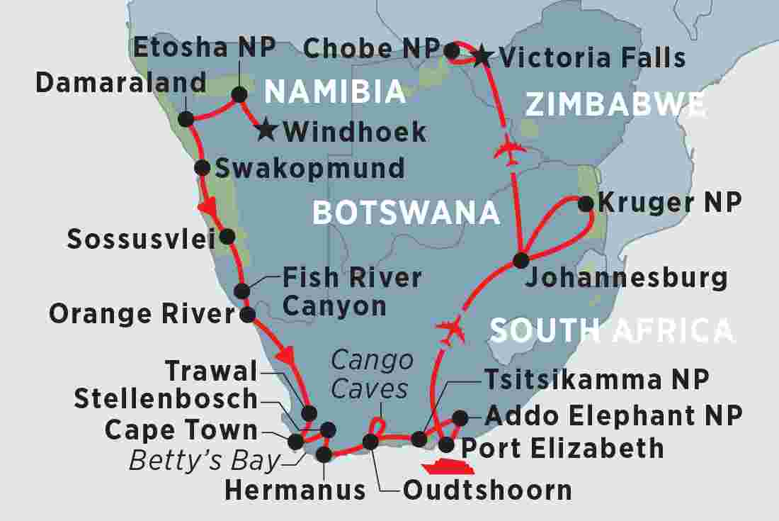 Map Of Africa Johannesburg.South Africa Tours Travel Trips Peregrine Adventures Au