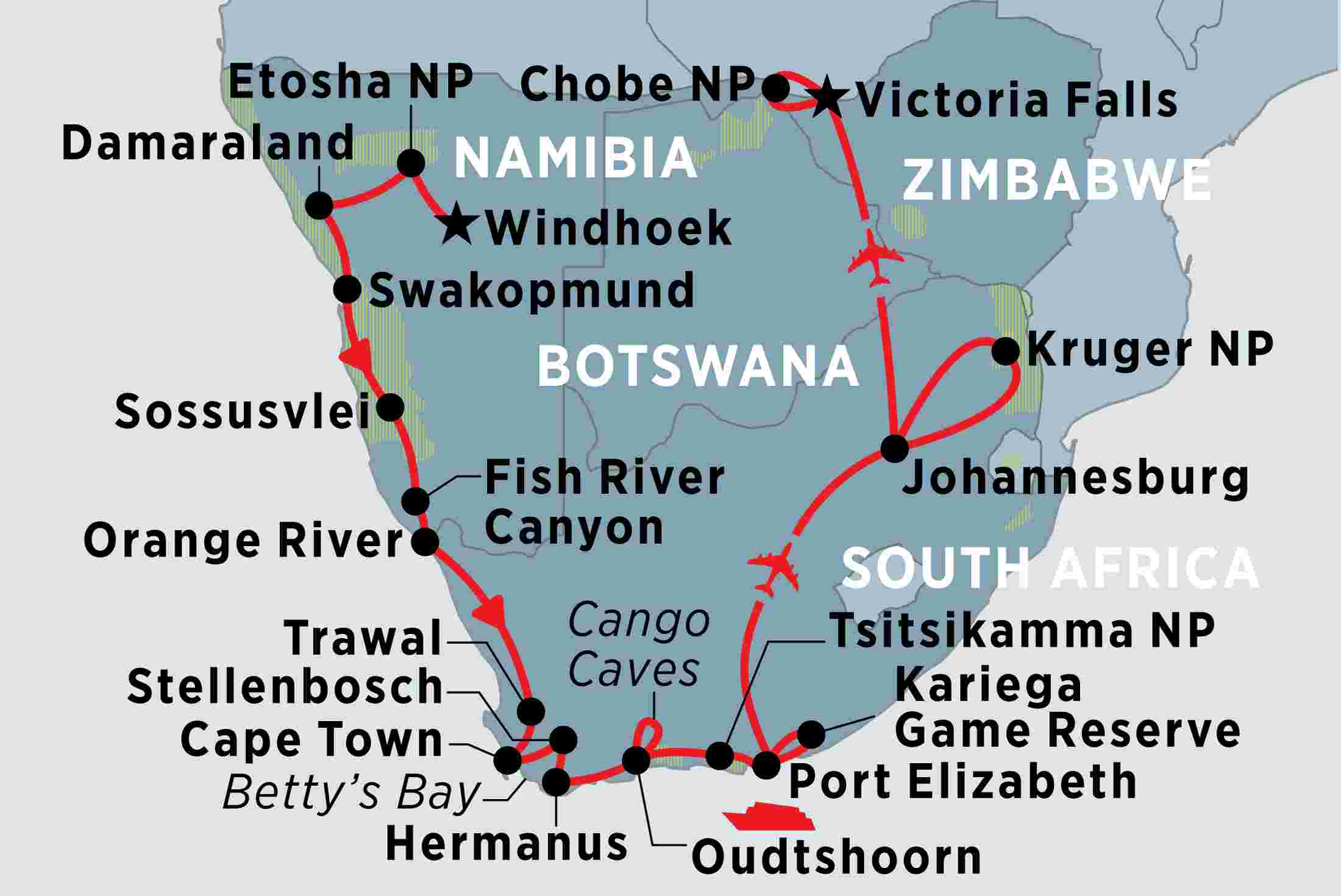 Highlights of Southern Africa overview | Highlights of Southern Africa