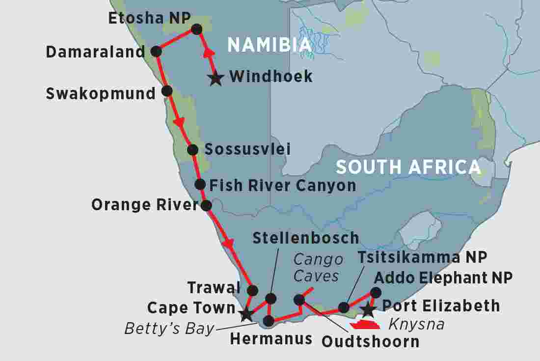 Namibia & South Africa's Garden Route | Peregrine Adventures US