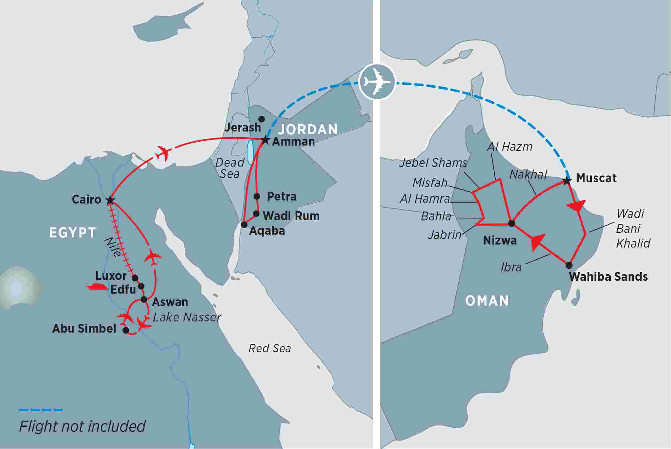 Egypt Tours Travel Trips Peregrine Adventures US - Map ancient egypt jordan river