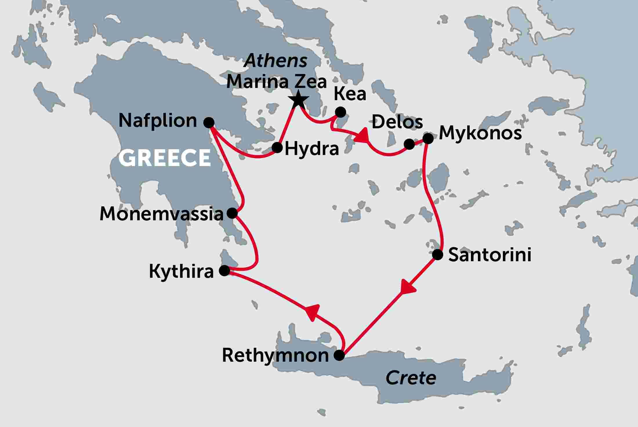Greece Cruising Classical Greece overview Greece Cruising