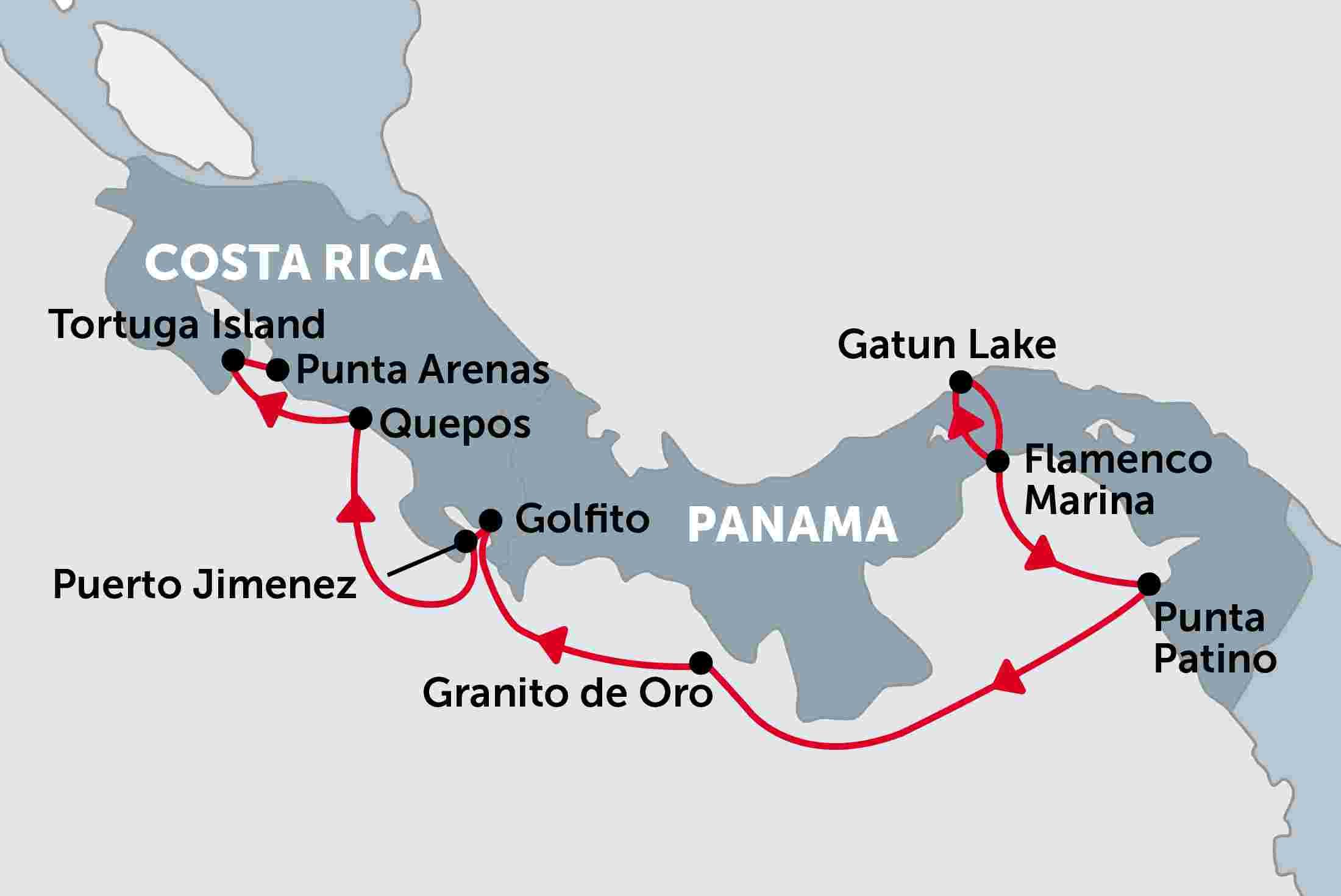 Cruising Costa Rica and Panama Panama to Costa Rica Costa Rica