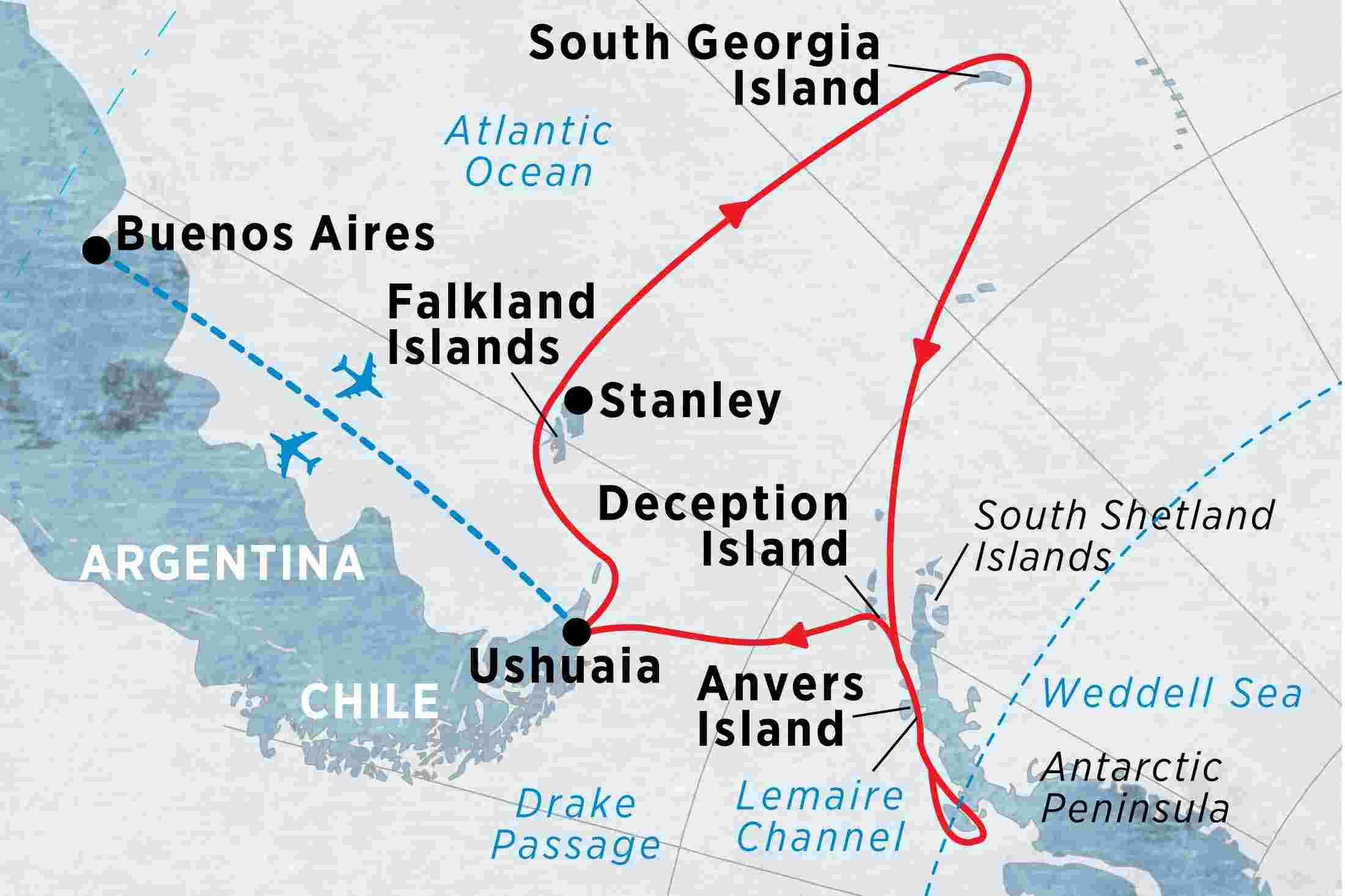 Crossing the Antarctic Circle via Falklands & South Georgia from Buenos  Aires overview | Crossing the Antarctic Circle via Falklands & South  Georgia ...