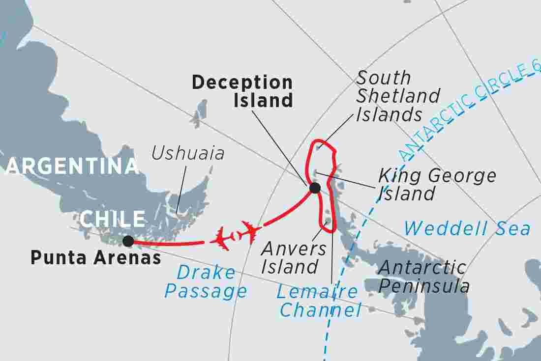 Antarctic Express - Peninsula in Depth overview   Antarctic Express -  Peninsula in Depth