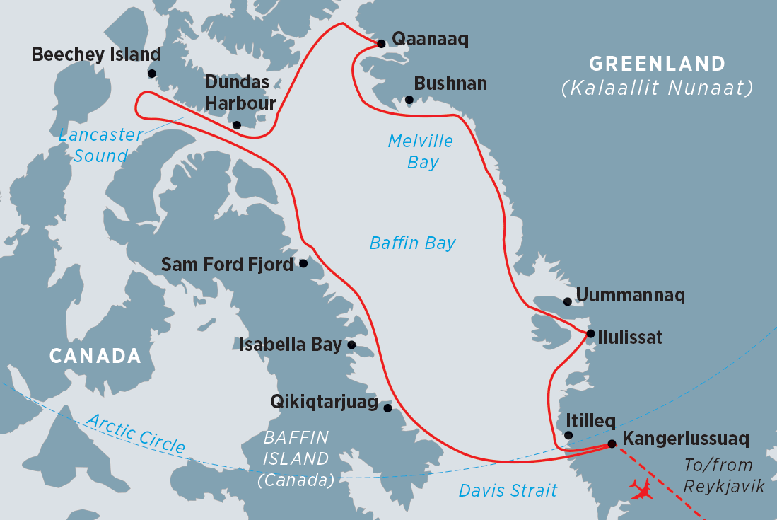 Map Of Canada Greenland And Iceland.Best Of The Western Arctic Canada And Greenland Peregrine