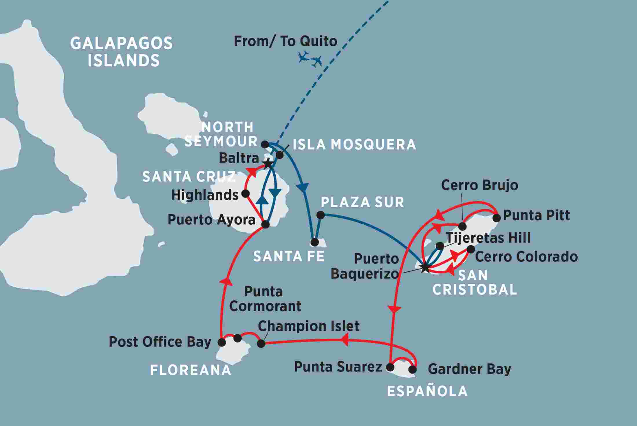 Classic Galapagos - South Eastern Islands (M/Y Coral ...