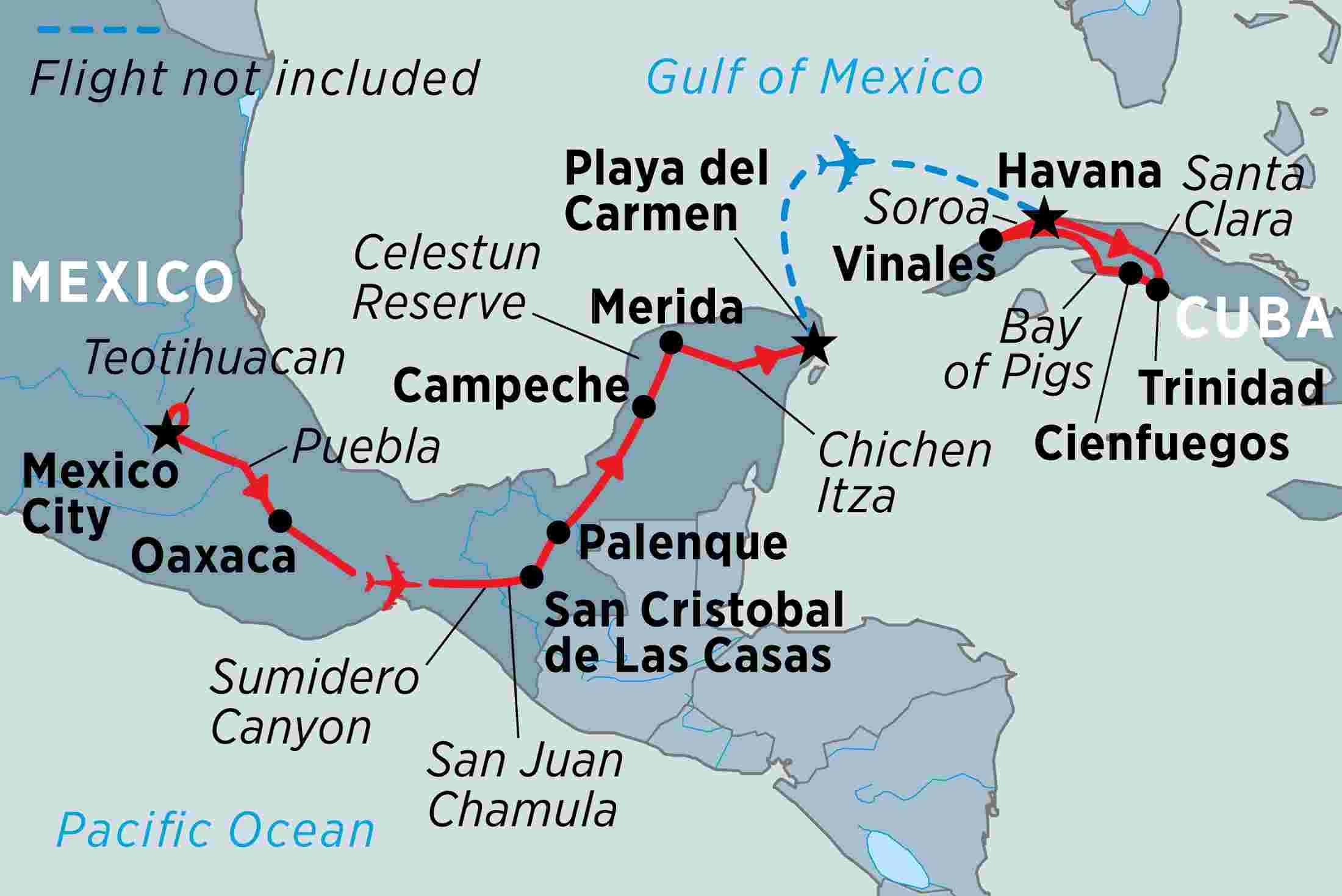 Mexico & Cuba Highlights overview | Mexico & Cuba Highlights