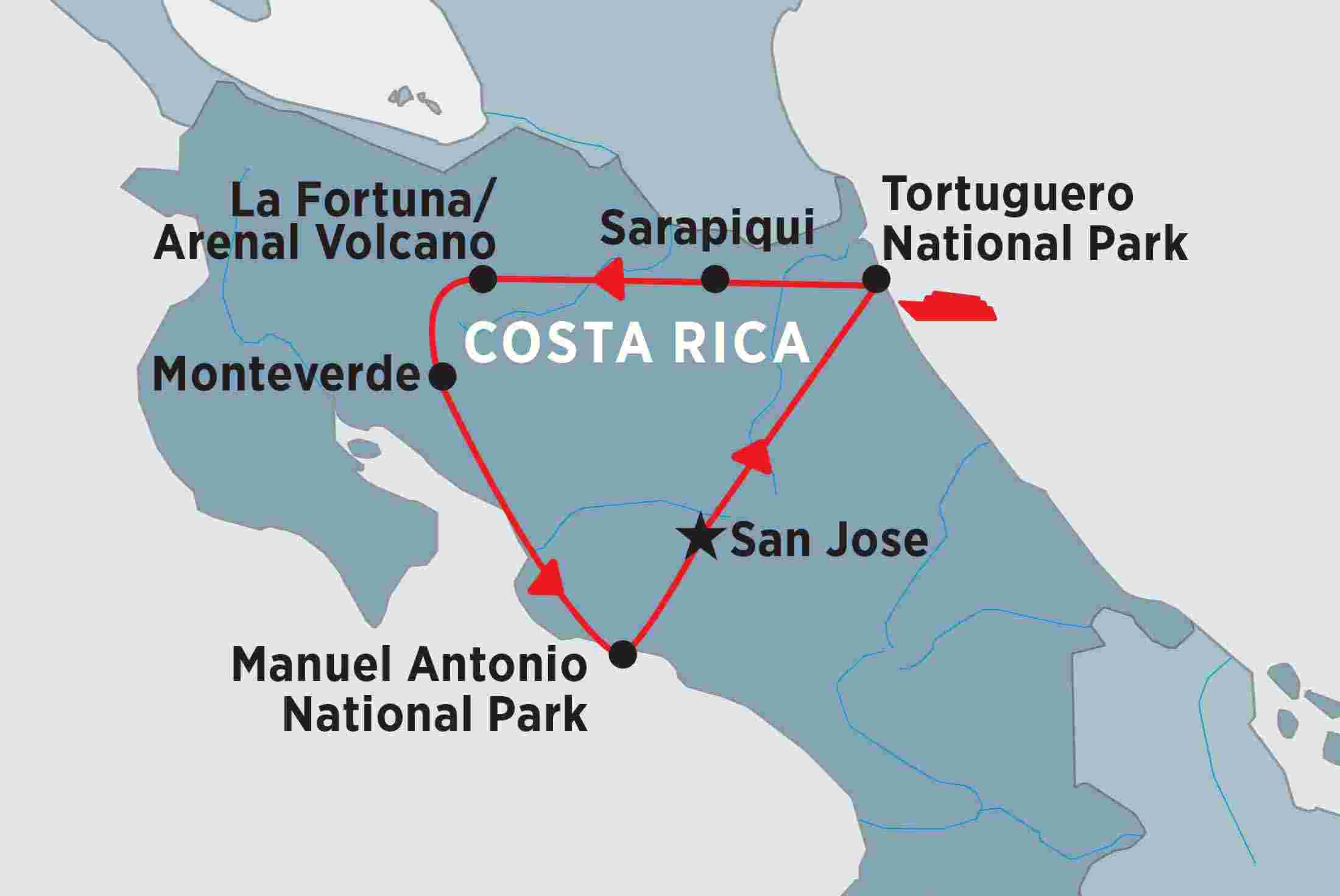 Amazing costa rica overview amazing costa rica en us map of amazing costa rica including costa rica gumiabroncs Image collections
