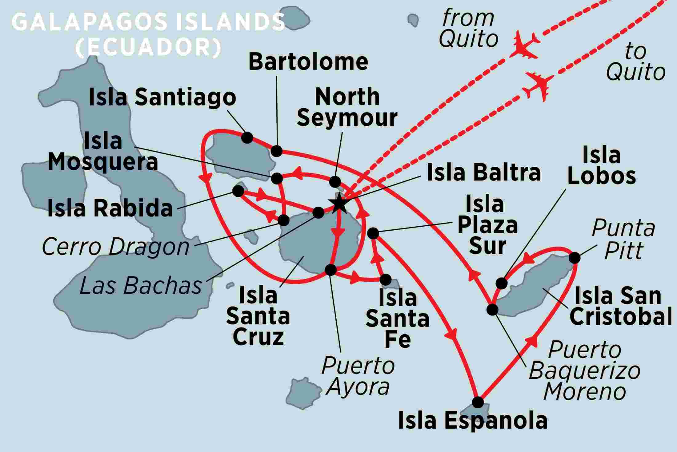 Map Of Galapagos Islands on