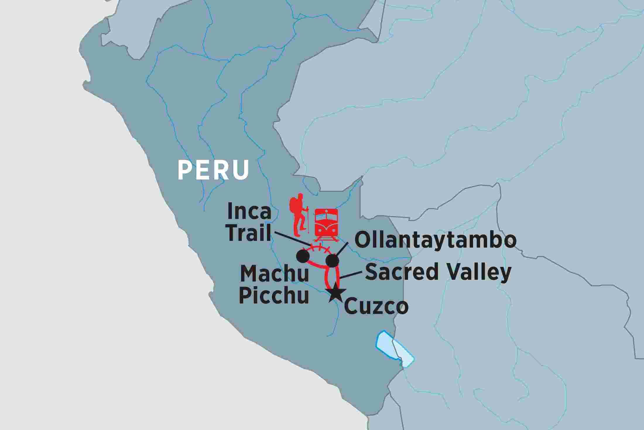 Peru Map Machu Picchu One day Inca Trail to Machu Picchu | Peregrine Adventures US