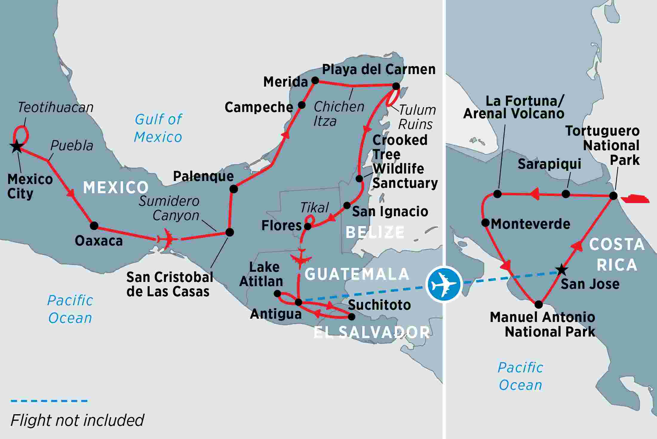Complete central america overview complete central america en gb map of complete central america including belize costa rica el salvador guatemala and gumiabroncs Image collections